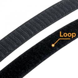 Fita Hook&Loop Preto 20mm · Loop (fêmea) · G0108