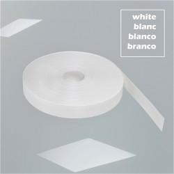 Fita Poliéster Recoberta PVC · 47mm · 100Mt · 1,3 Ton (Branca)